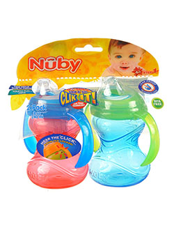 Grip n' Sip 2-Pack Sippers by Nuby in blue/multi, orange/multi and pink/multi