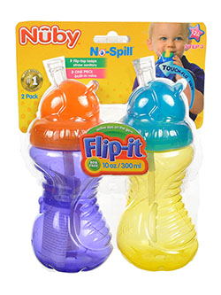 Flip-It Sippers 2-Pack by Nuby in fuchsia/multi, lime/multi and turquoise/multi