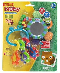 Teethe and Play Set by Nuby in Blue/multi, Infants