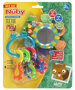 Teethe and Play Set by Nuby in Turquoise/multi, Infants
