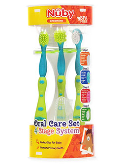 4-Stage Oral Care Set by Nuby in Lime - $12.00