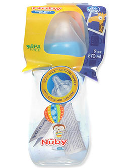 Wide Neck Bottle by Nuby in blue, hot pink, orange, purple and red