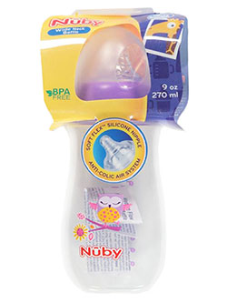 Wide Neck Bottle by Nuby in Purple