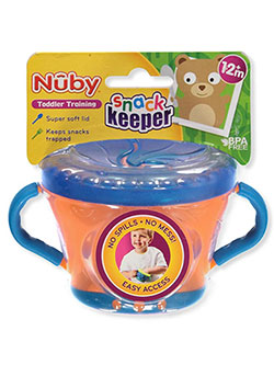 Snack Keeper by Nuby in blue/orange, blue/red and purple/green