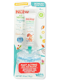 All Natural Teething Gel with Teether by Nuby in White