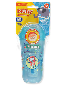 Insulated Sipper Cup by Nuby in blue, green, purple, teal and yellow