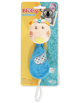 Pacifier Clip by Nuby in Blue