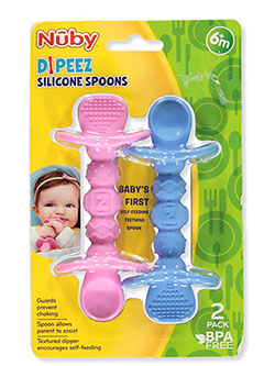 2-Pack Dipeez Silicone Spoons by Nuby in Multi