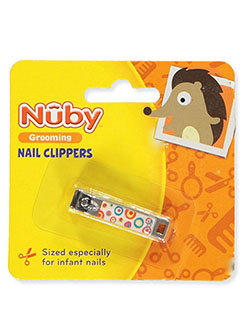 Grooming Nail Clippers by Nuby in blue, orange, pink and purple