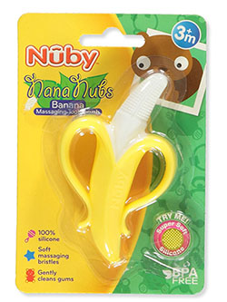 Nana Nubs Banana Massaging Toothbrush by Nuby in Multi