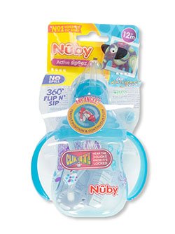 Active Sipeez Flip 'n Sip Sipper Cup by Nuby in aqua, blue, green, orange and pink - $5.99