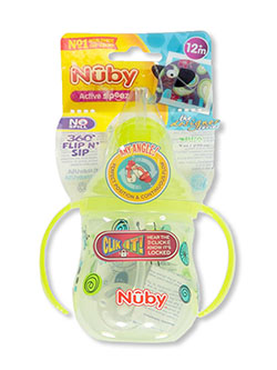Active Sipeez Flip 'n Sip Sipper Cup by Nuby in green and orange