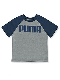 Boys' Mesh Athletic Top by Puma in Light heather gray - T-Shirts