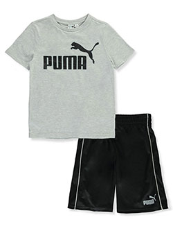 Boys' Performance 2-Piece Shorts Set Outfit by Puma in Puma black