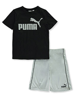 PUMA Baby Girls Stripe Block Short Set