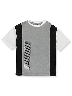 Boys' Performance Logo T-Shirt by Puma in Light heather gray