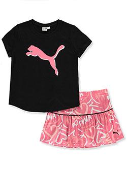 Girls' Performance Skort 2-Piece Set Outfit by Puma in Puma black