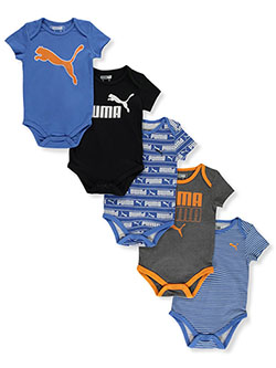 Baby Boys' 5-Pack Bodysuits by Puma in Blue - $14.99