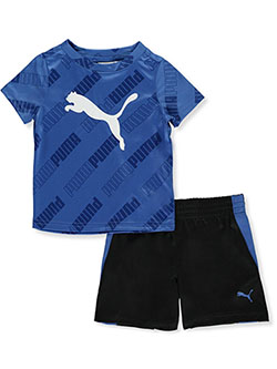 Baby Boys' Logo 2-Piece Shorts Set Outfit by Puma in Palace blue
