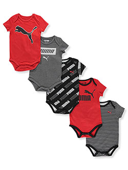 Baby Boys' 5-Pack Bodysuits by Puma in Red - $14.99