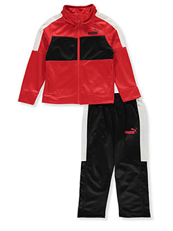 Small Logo Pieced 2-Piece Tracksuit Outfit by Puma in Multi, Boys Fashion