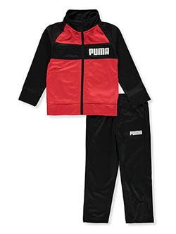 Boys' 2-Piece Sweatsuit Pants Set Outfit by Puma in Red