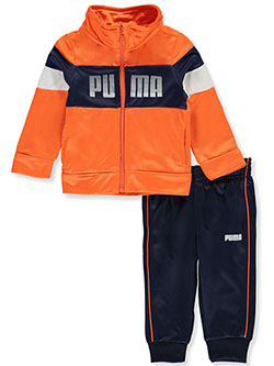 Baby Boys' 2-Piece Sweatsuit Pants Set Outfit by Puma in Orange