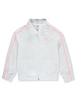 Girls' Piped Sleeve Track Jacket by Puma in White - Hoodies