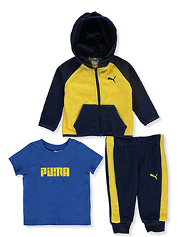 Baby Boys' Contrast 3-Piece Layette Set by Puma in Yellow