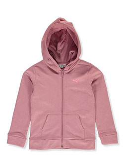 Girls' Tie-Dye Logo Zip Hoodie by Puma in Pink - Hoodies