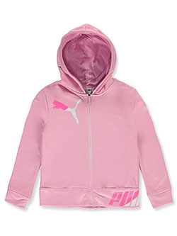 Girls' Split Texture Zip Hoodie by Puma in Pink - Hoodies