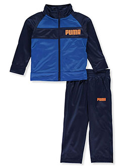 Stripe Logo 2-Piece Tracksuit Outfit by Puma in Royal blue, Infants