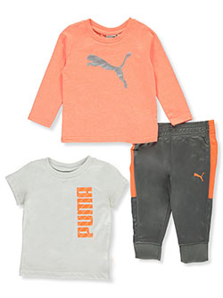 Baby Boys' Multi Logo 3-Piece Layette Set by Puma in Orange