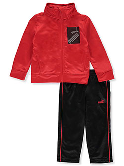 Baby Boys' Box Logo 2-Piece Tracksuit Outfit by Puma in Red - Active Sets