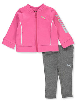 Iridescent Logo 2-Piece Leggings Set Outfit by Puma in Pink - Active Sets