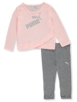 Crossover 2-Piece Leggings Set Outfit by Puma in Pink - $21.00