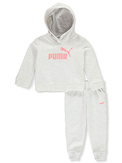 Classic Logo 2-Piece Sweatsuit Outfit by Puma in White - Active Sets