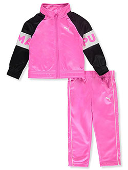 Armband Logo 2-Piece Tracksuit Outfit by Puma in Pink - Active Sets