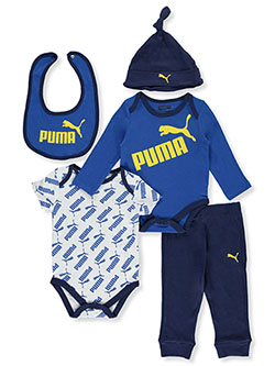 Baby Boys' Logo Print 5-Piece Layette Set by Puma in White