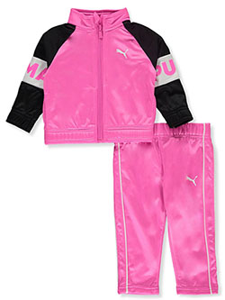 Logo Sleeve 2-Piece Tracksuit Outfit by Puma in Pink - Active Sets