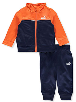 Contrast Panel 2-Piece Tracksuit Outfit by Puma in Orange