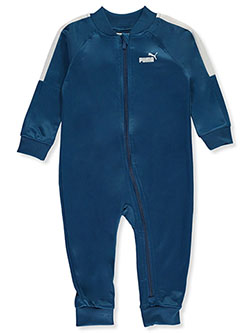 Baby Boys' Sleeve Stripe Coverall by Puma in Blue