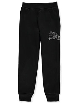 Boys' Logo Joggers by Puma in black and charcoal gray, Boys Fashion
