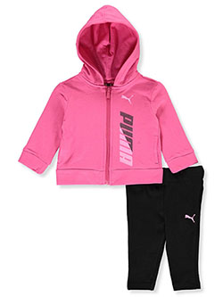 Girls' 2-Piece Leggings Set Outfit by Puma in Pink, Infants