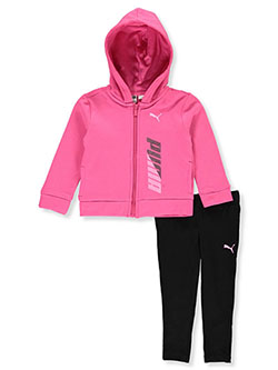 Girls' 2-Piece Tracksuit Outfit by Puma in Pink, Infants