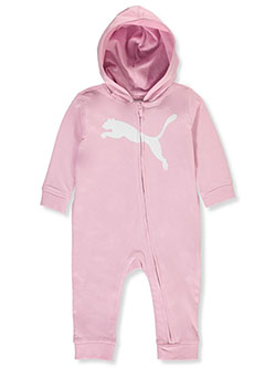 Baby Girls' Logo Coverall by Puma in Pink