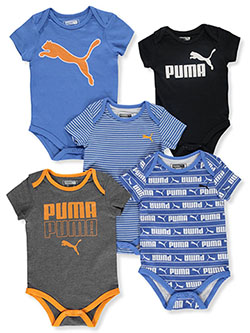 Baby Boys' 5-Pack Bodysuits by Puma in Blue - $24.00