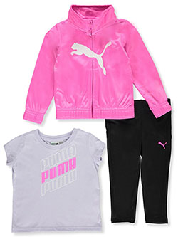 Repeat Logo 3-Piece Leggings Set Outfit by Puma in Pink
