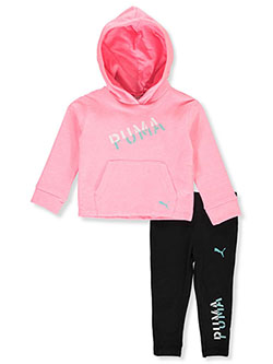 Stencil Logo 2-Piece Leggings Set Outfit by Puma in Pink, Infants