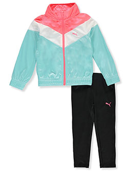 Angle Panel 2-Piece Leggings Set Outfit by Puma in Medium blue